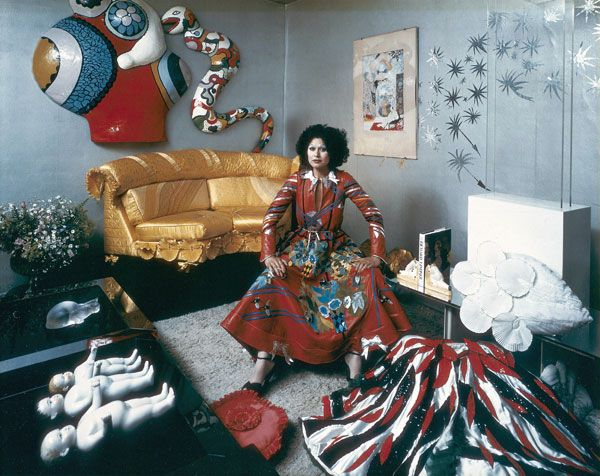 Fong Leng, Dutch fashiondesigner famous during the seventies by Paul Huf, 1979
