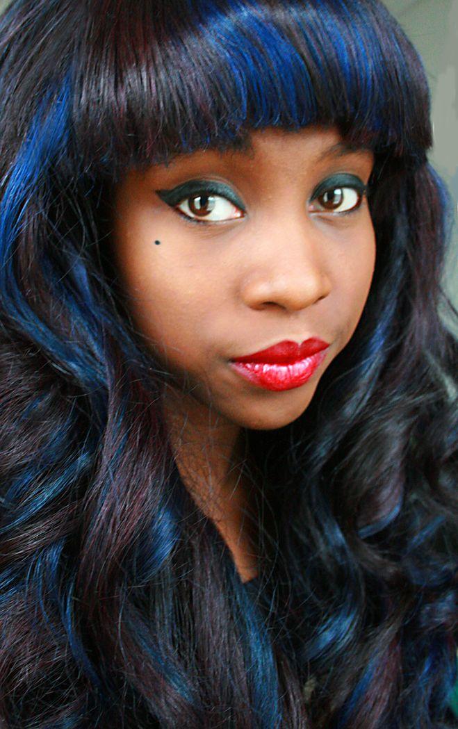 Fun blue, violet, and ashy black hair | Awesome hair ...
