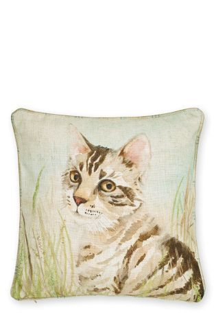 Painted Cat Cushion
