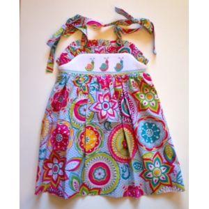 Delaney Snails Smocked Dress