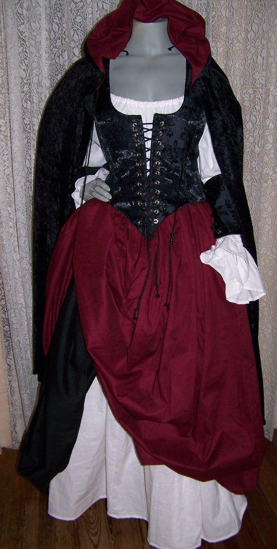 Piratess Renaissance Pirate Kleid Kleid Kostüm von zachulascrypt