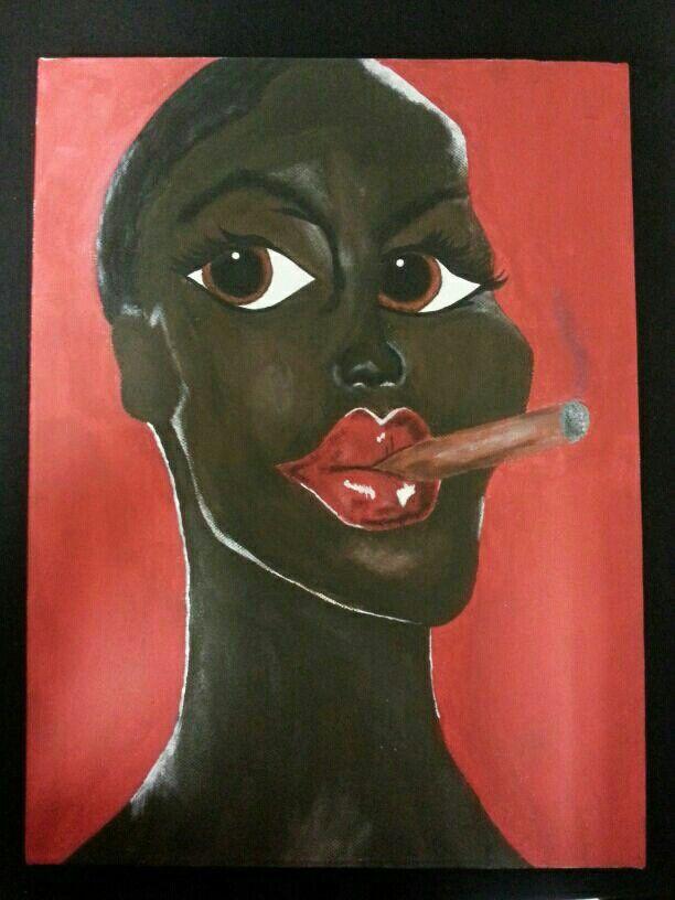 Die meid met die sigar.