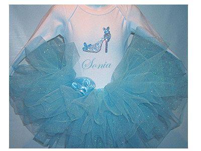 Cinderella Tutu Set Glittery Blue Tutu Cinderella by gigitexas,     This is so cute!