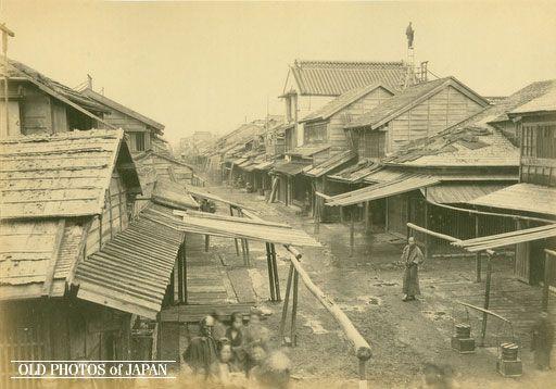 Tokyo Anjincho no Itabukiyane, Nihonbashi Kitagawa (published in The Far East on 6/17/1872)