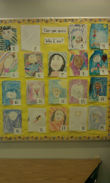 Open House Idea Have Students Draw A Self Portrait Amp Let