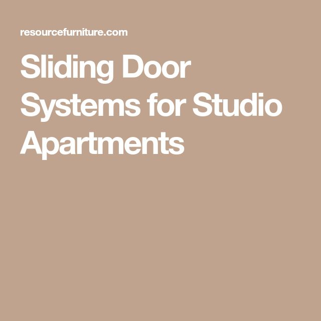 Sliding Door Systems for Studio Apartments