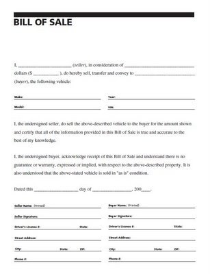 Bill Of Sale Form For Business  BesikEightyCo