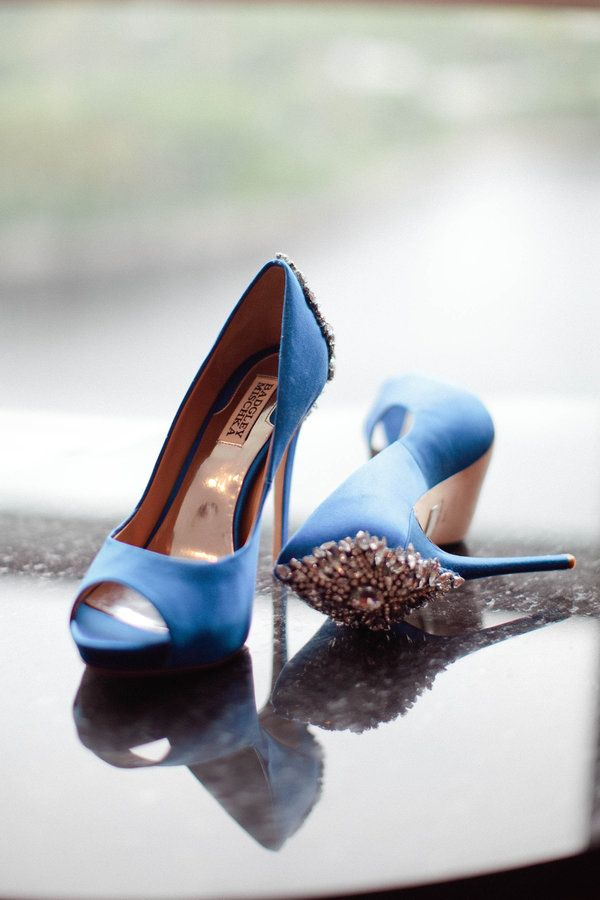 """Can't get enough of these """"something blue"""" wedding heels! 