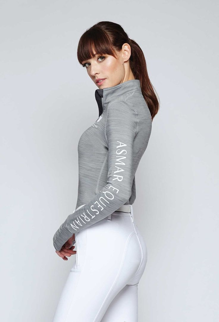 Fall ROOTD inspiration, the Asmar Equestrian Vale 1/4 zip long sleeve performance shirt.