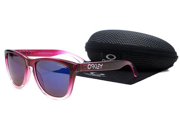 Oakley Frogskins Sunglasses Rose Red Frame Purple Lens , cheap  $16 - www.hats-malls.com