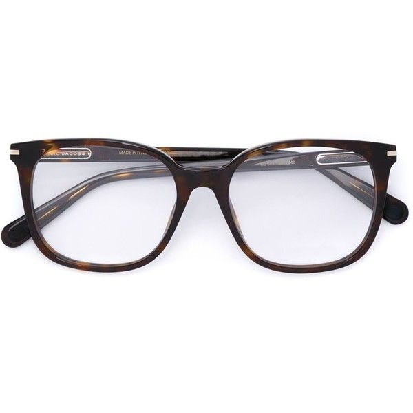 Marc Jacobs tortoiseshell glasses ($295) ❤ liked on Polyvore featuring accessories, eyewear, eyeglasses, brown, brown glasses, tortoise glasses, tortoiseshell glasses, marc jacobs eyewear and marc jacobs eyeglasses