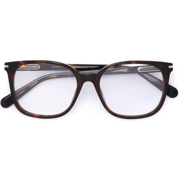 Marc Jacobs tortoiseshell glasses ($295) ❤ liked on Polyvore featuring accessories, eyewear, eyeglasses, brown, brown glasses, tortoise glasses, tortoiseshell glasses, marc jacobs eyewear and marc jacobs eyeglasses