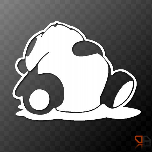 Details About Sleeping Panda Vinyl Decal Sticker Jdm