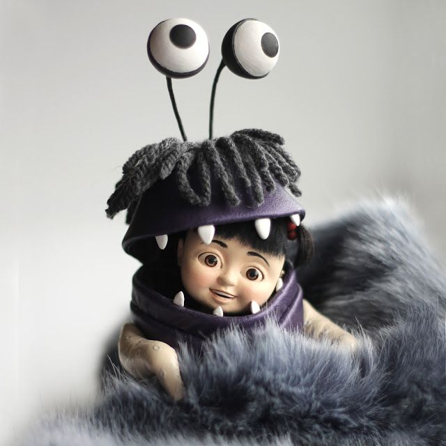 "Handmade doll ""Boo"".  Size: 19.5 cm (eye).  Materials: artista forma, wire, pins, wool, artificial leather."