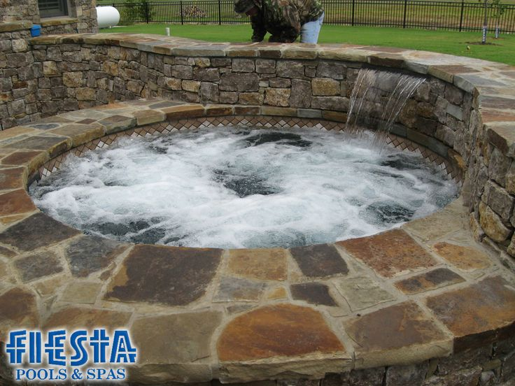 18 best inground hot tubs images on pinterest backyard for Above ground pool decks tulsa