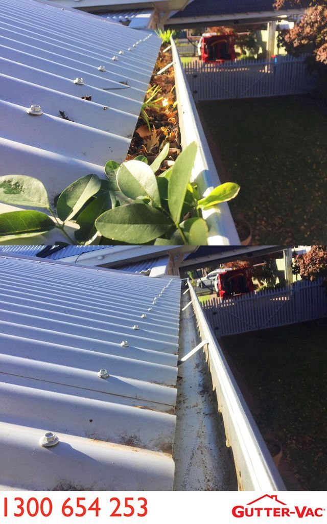 A great before and after from Gutter-Vac Shepparton in Victoria.