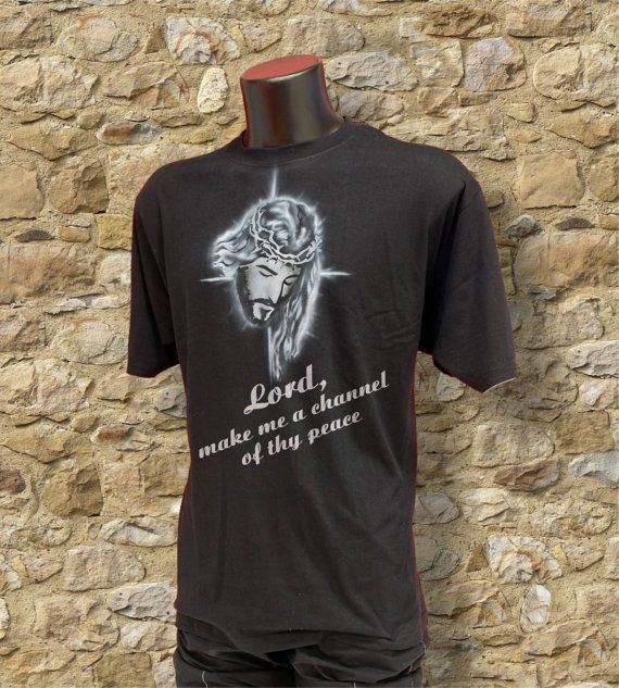 """""""Lord, make me a channel of thy peace"""". https://www.etsy.com/it/listing/263128316/lord-corona-di-spine-christian-tshirt?ref=shop_home_active_11"""