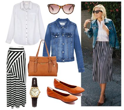Spring Casual Style Affordable / Vertical Stripes by Josefinaelizalde on Set That -