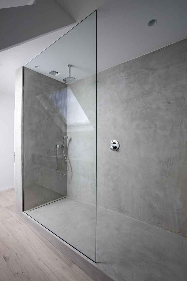 Douche en béton au sol  - #au #Béton #douche #en #sol  Idée