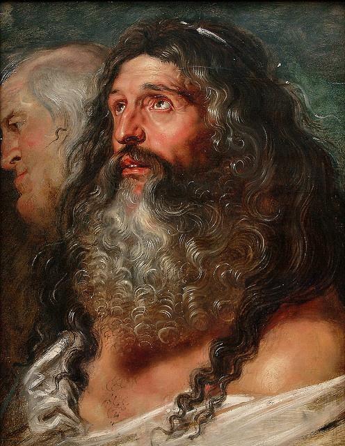 "RUBENS, Pieter Paul (b. 1577, Siegen, d. 1640, Antwerpen) ~ ""Study of Two Heads"""