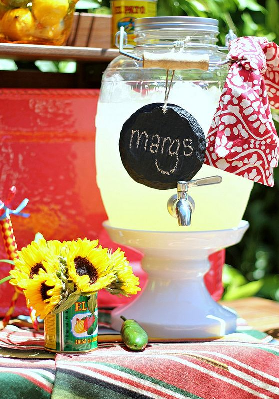 How to throw an easy Fiesta / Margarita Party!  **Teresa has this type glass jug! -Recipe for strawberry!?