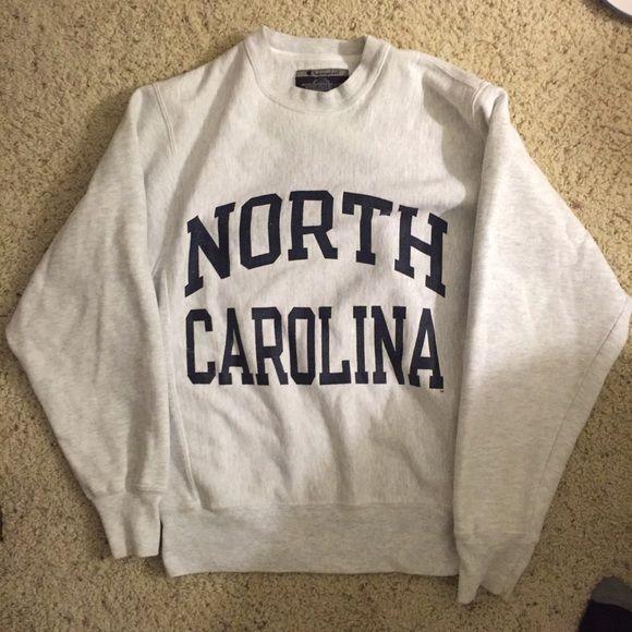 North Carolina original reverse weave sweatshirt Love this sweatshirt but is too small for me! Champion Tops Sweatshirts & Hoodies