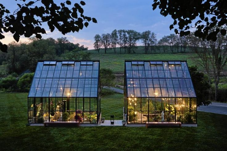 Custom Cape Cod by BC Greenhouse - Wonderful twin greenhouses in Pennsylvania filled with a menagerie of plants, wrought iron, sculptures, lights and cozy, over-stuffed chairs & sofas garden-greenhouse.se