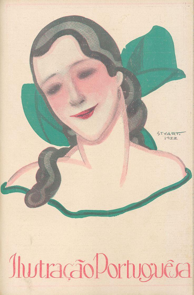 March 1922  - Ilustração Portuguesa cover by Stuart Carvalhais
