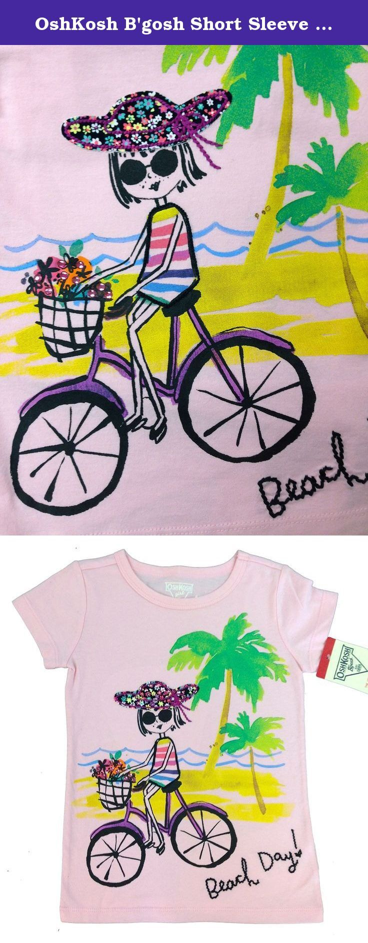 OshKosh B'gosh Short Sleeve Graphic Tee - Pink-4. OshKosh B'gosh Short Sleeve Graphic Tee - Pink OshKosh offers style-conscious kids everything from casual playwear to special occasion dresses, staying true to its roots in quality, durability and craftsmanship.