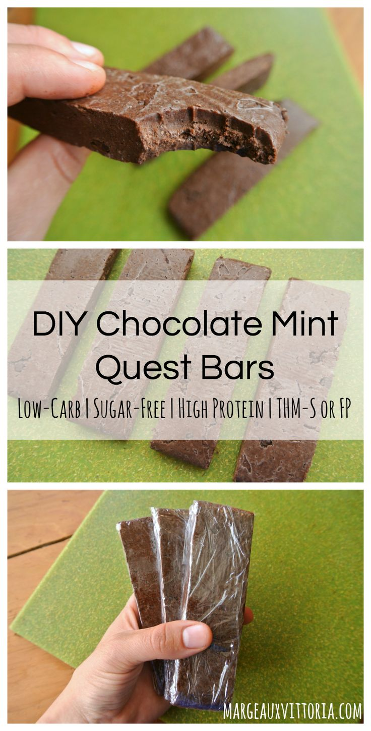 DIY Chocolate Mint Quest Bars - these are so fudgy and delicious! Plus, they're easy to make and way more affordable than the real thing :)