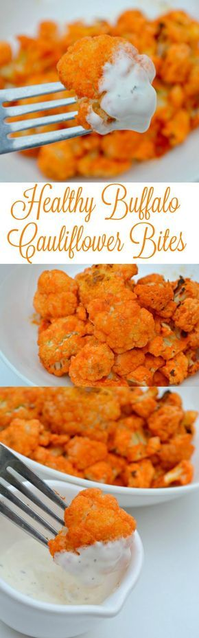 Healthy Buffalo Cauliflower Bites Recipe // Upgrade your skincare routine today for healthier & amazing looking skin, using our discount code 'Pinterest10' at herbavana.com