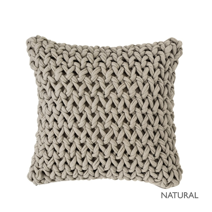 Buy Bedroom Bedspreads Cushions Chunky Hand Knit Natual Cushion Cover From The White