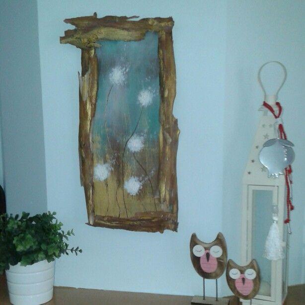 Handmade wooden painting
