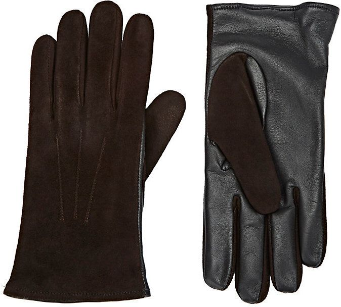Barneys New York Men's Tech-Smart Suede Gloves-BROWN, BLACK, NO COLOR