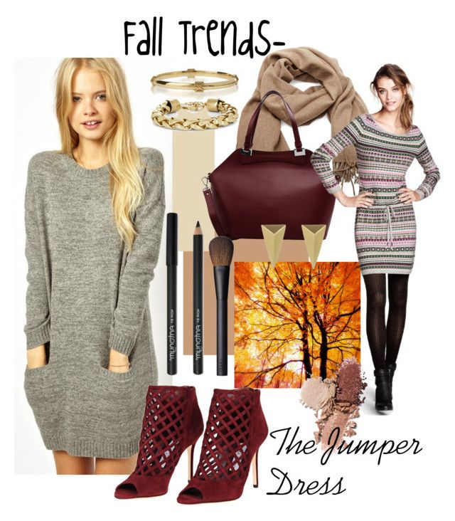 """""""Fall Trends- The Jumper Dress"""" by teennetwork ❤ liked on Polyvore featuring Jack Wills, Acne Studios, Nicoli, NARS Cosmetics, H&M, Jimmy Choo, BCBGMAXAZRIA, Alexis Bittar, women's clothing and women"""
