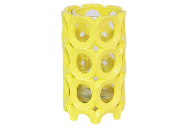 Circle Pierced Candleholder, Tall on OneKingsLane.com