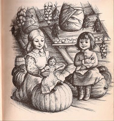 Pioneer Days: Garth Williams Illustration for Little House in the Big Woods by Laura Ingalls Wilder (a childhood favorite).