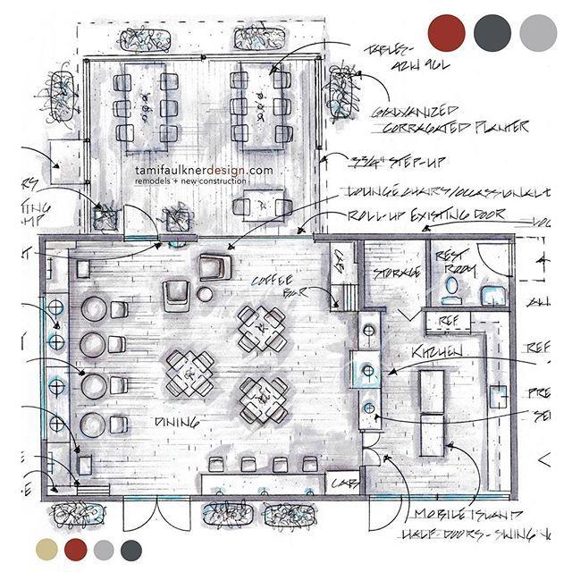 Coffee shop remodel floor plan option
