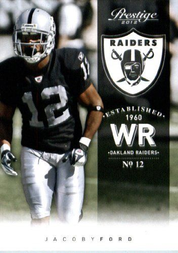 2012 Panini Prestige Football Card #140 Jacoby Ford - Oakland Raiders by Panini. $1.89. 2012 Panini Prestige Football Card #140 Jacoby Ford - Oakland Raiders