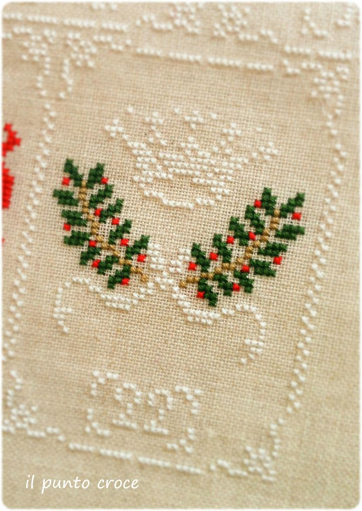 Shabby Advent Calendar 22 Cuore e Batticuore - il punto croce