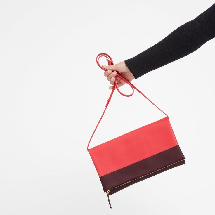 $150 Women's Foldover Crossbody Bag SOLD by EVERLANE - affiliate - Where a pouch meets a bag. This crossbody is handmade in Spain, with two zippers to the interior compartment for easy access on the go. Slung over a shoulder or across the body—there's no wrong way to wear it.