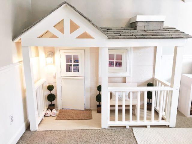 Best 25 indoor playhouse ideas on pinterest for Diy childrens indoor playhouse