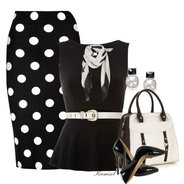 Untitled #1839, created by gigi-mcmillan on Polyvore. Loved the polka dots.