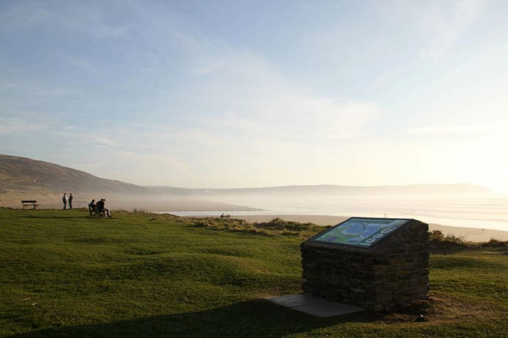 A plinth with a view, Woolacombe bay