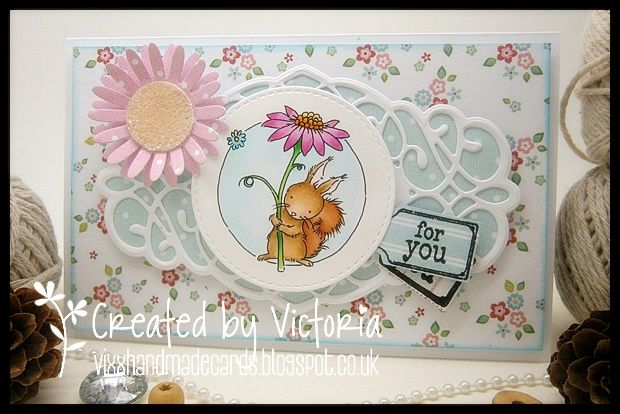 LOTV - Squirrel Trio Flowers by Vicky Bailey