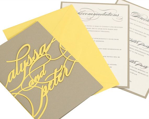 Hey, I found this really awesome Etsy listing at https://www.etsy.com/listing/179103827/monogram-wedding-invitations-yellow