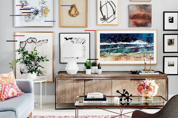 Watch How We Easily Created This Modern Gallery Wall Style At Home Watch How We Easily C In 2020 Gallery Wall Living Room Gallery Wall High Ceilings Living Room Wall