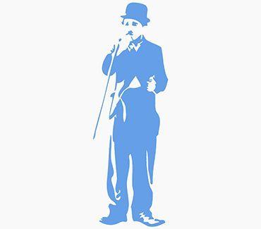 Трафарет для тату Чарли Чаплин