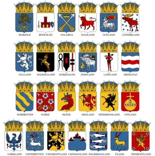 Sweden provincial coat of arms