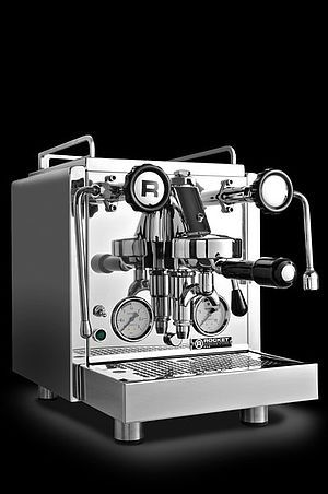 Foto's Rocket espresso R58 espressomachine. Topklasse Italiaanse espressomachine met dual boiler, rotarypomp van Rocket espresso.